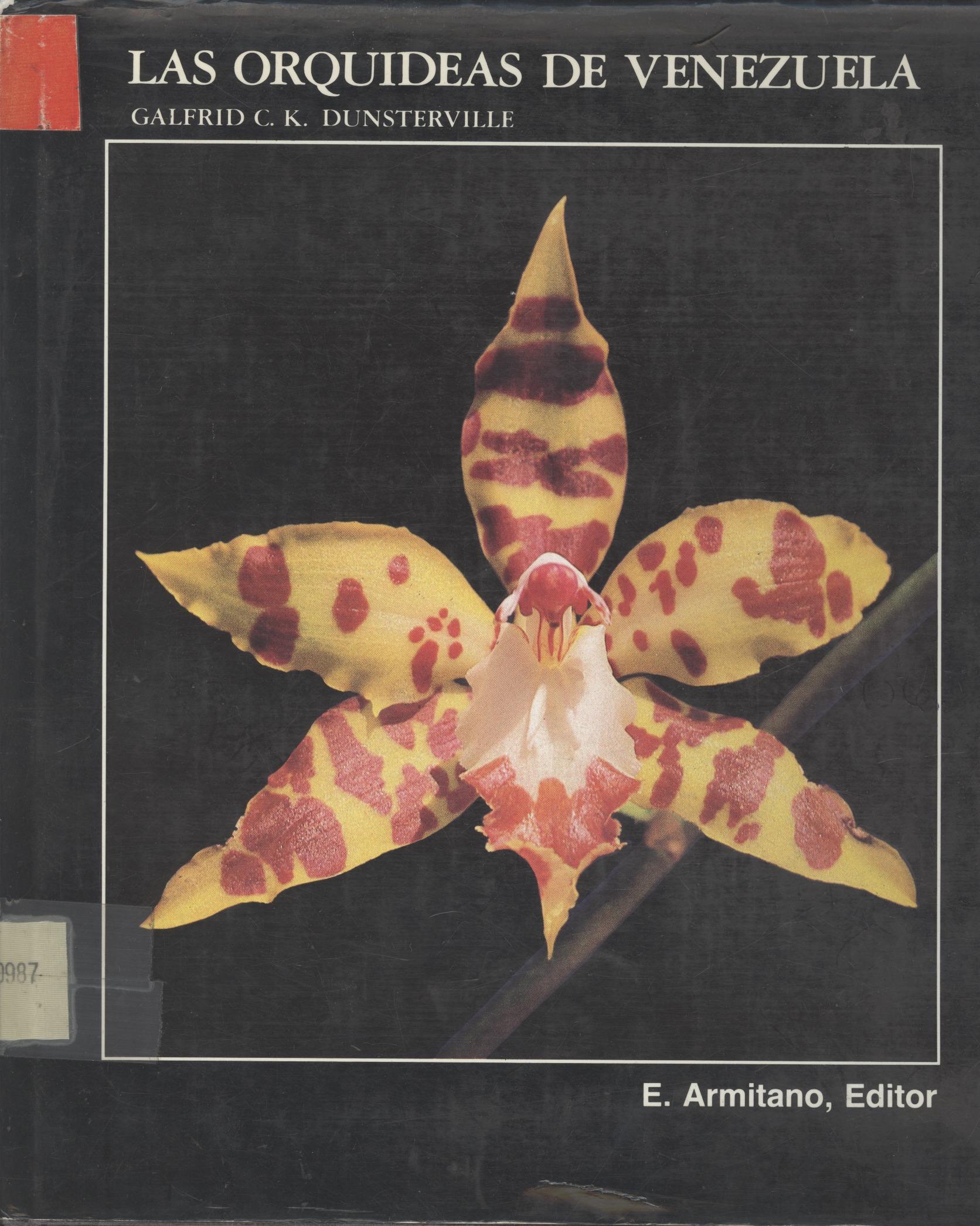 caratula de la obra las orquídeas de Venezuela de Galfrid Dunsterville