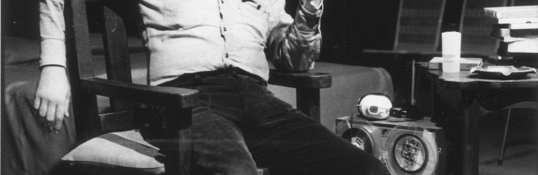Jose Ignacio Cabrujas. Fotografo Ricardo Armas. 1975