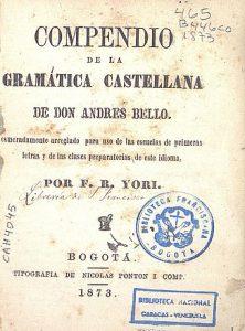 Compendio-de-la-gramatica-castellana-de-Don-Andres-Bello