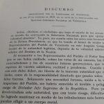 """""""El Discurso de Angostura es el más importante documento político producido por Simón Bolívar"""""""