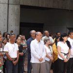 Con ofrenda documental y floral trabajadores de la Biblioteca Nacional honraron a El Libertador
