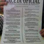 Es falsa publicación de lista de alimentos CLAP  en Gaceta Oficial