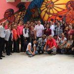 Trabajadores bibliotecarios visitaron la II Bienal del Sur, pueblos en resistencia