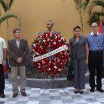 Con ofrenda floral se conmemoraron 166 años del natalicio de José Martí