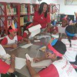 Niños y niñas disfrutaron de la lectura en el Festival Resistencia Indígena
