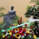 Con ofrenda floral se honró la memoria del Apóstol cubano José Martí