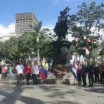 Con ofrenda floral ante el Padre de la Patria se conmemoraron 139 años de la llegada de Martí a Caracas